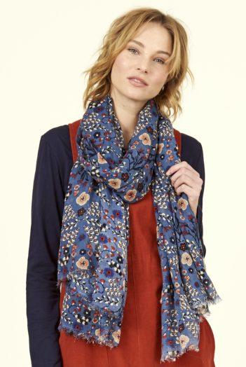Nomads Šátek bloomsbury modrý