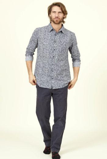 Nomads pánská košile s dlouhým rukávem modrá