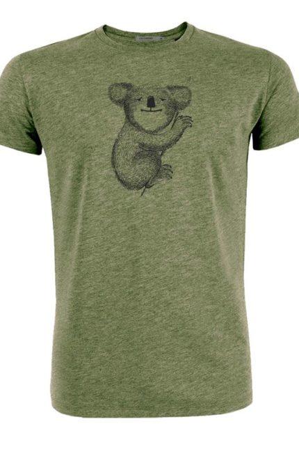 Greenbomb tričko z bio bavlny koala khaki