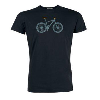 Greenbomb tričko z bio bavlny mountain bike černé