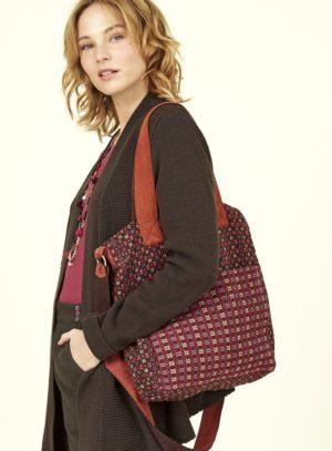 Nomads kabelka z ručně tkané bavlny červená