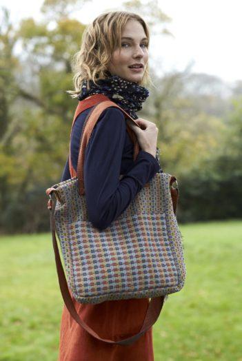 Nomads kabelka z ručně tkané bavlny oranžová