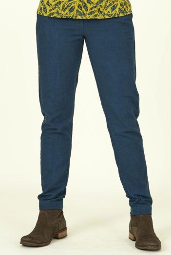 Nomads slim kalhoty v bio bavlně modré
