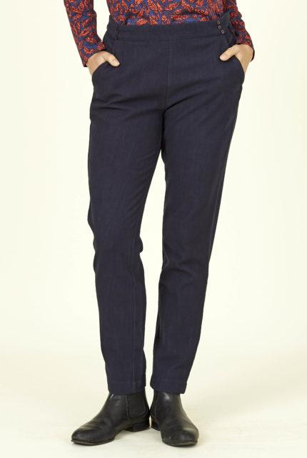 Nomads slim kalhoty z bio bavlně tmavě modré