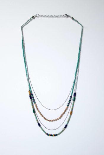 Nomads náhrdelník sari modrý