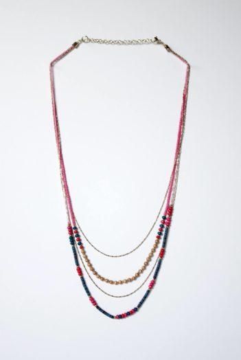 Nomads náhrdelník sari růžový