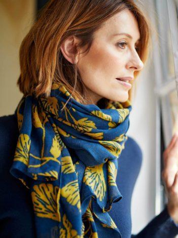 Nomads bambusový šátek torhild modrý