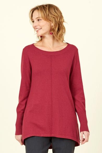 Nomads vlněný svetr se zúženými rukávy červený