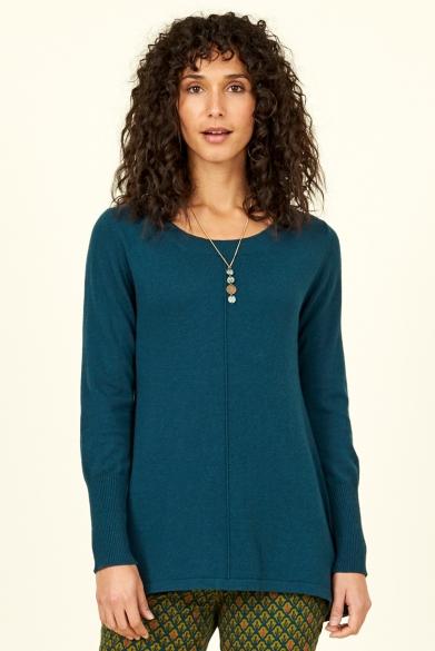Nomads vlněný svetr se zúženými rukávy modrý