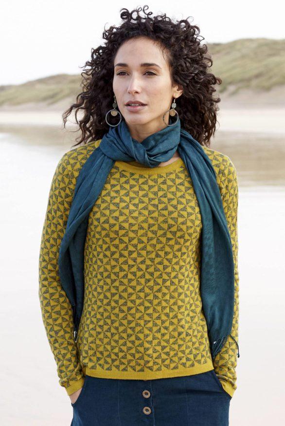 Nomads vlněný svetr žlutý