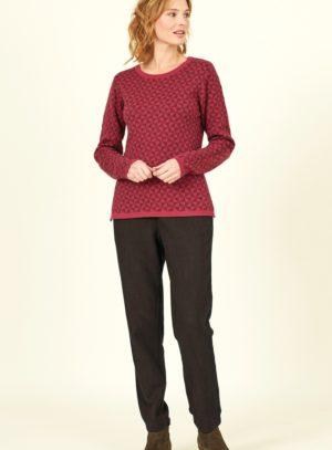 Nomads vlněný svetr červený
