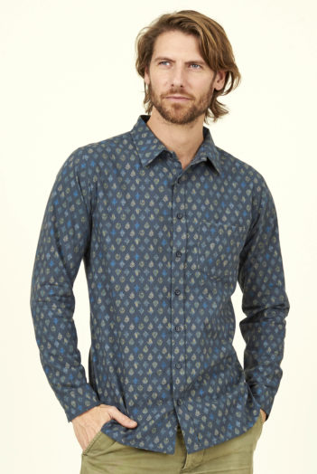 Nomads pánská košile leaf světle modrá