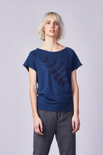 Paala tencelový top branch modrý