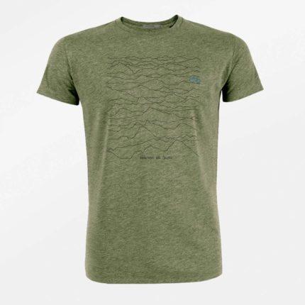 Greenbomb tričko z bio bavlny mountain calls khaki