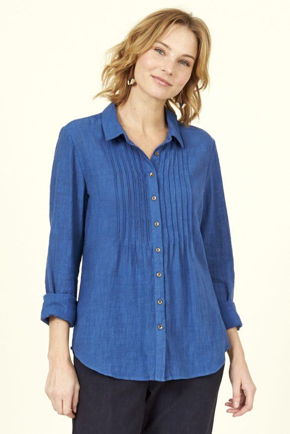 Nomads košile s nabíráním modrá