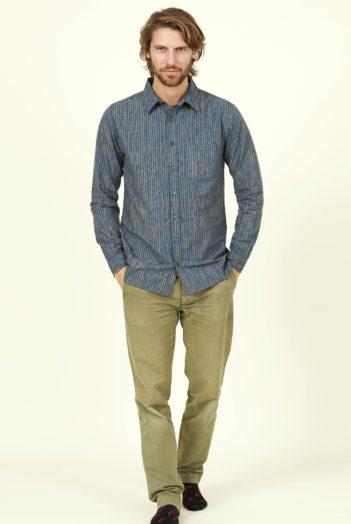 Nomads pánská košile stipes modrá