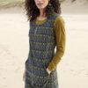Nomads manšestrové soak šaty žluto-modré
