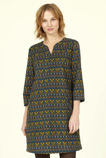Nomads manšestrové tunikové šaty soak okrové