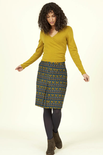 Nomads manšestrová sukně soak okrová