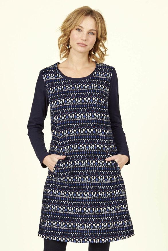 Nomads manšestrové šaty soak námořnická modř