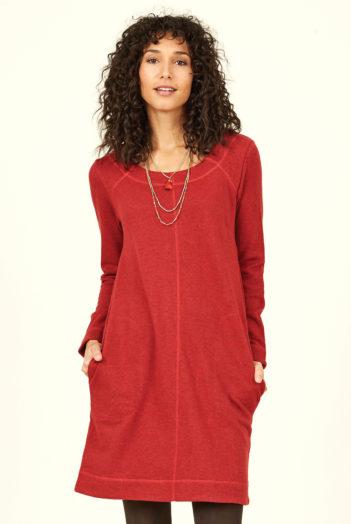 Nomads Žerzejová tunika z bio bavlny červená