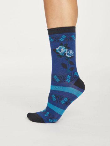 Thought dárková sada bambusových kalhotek a ponožek floral