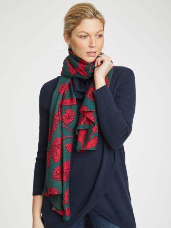 Thought bambusový šátek torhild zelený