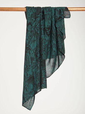 Thought bambusový šátek woodlands zelený