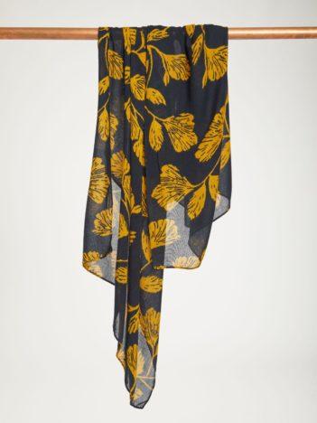 Thought bambusový šátek torhild modrý