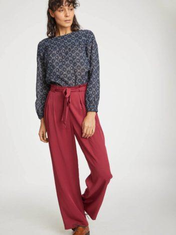 Thought modalové kalhoty kamara červené