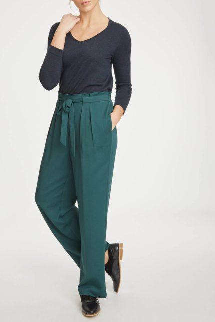 Thought modalové kalhoty kamara zelené
