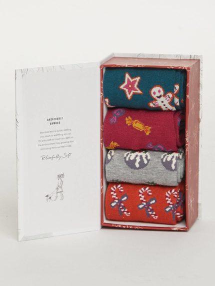 Thought dárkové balení dámských ponožek christmas treats