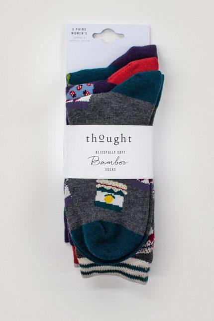 Thought trojbalení dámských ponožek jammie