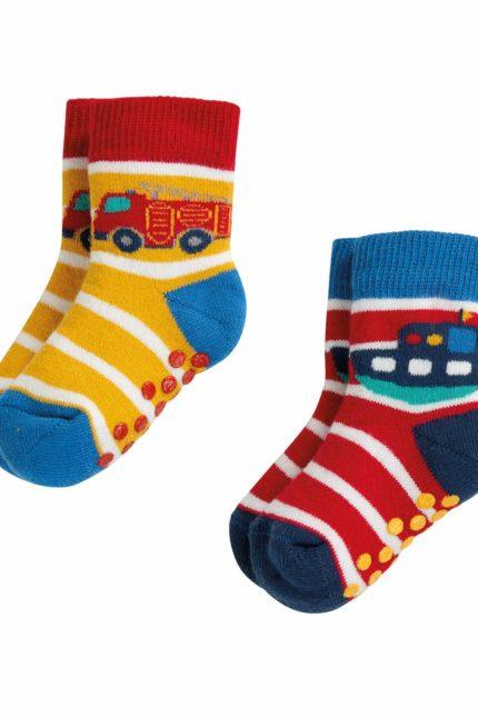 Frugi dvojbalení ponožek s protiskluzem transport