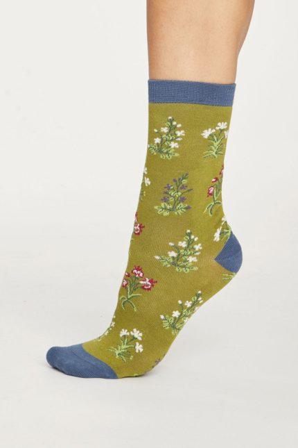 Thought dámské bambusové ponožky sylvan zelené