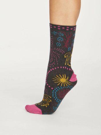Thought dámské bambusové ponožky firework šedé