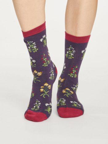 Thought dámské bambusové ponožky sylvan fialové