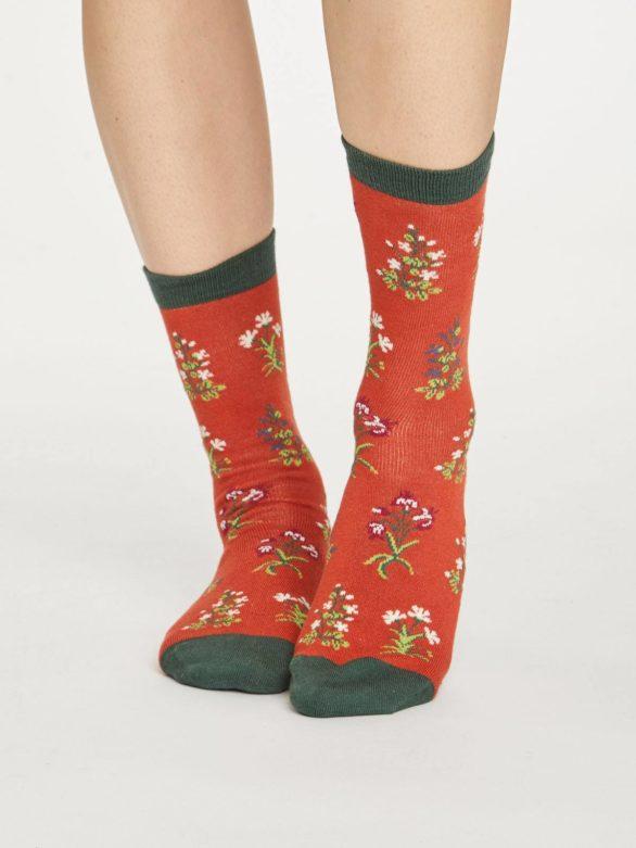 Thought dámské bambusové ponožky sylvan cihlové