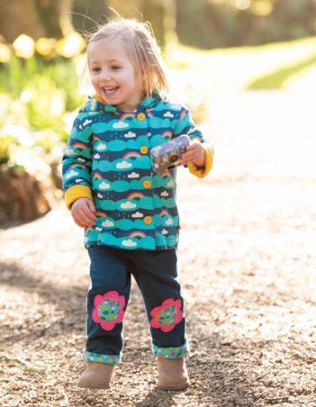 Frugi manšestrové kalhoty flower