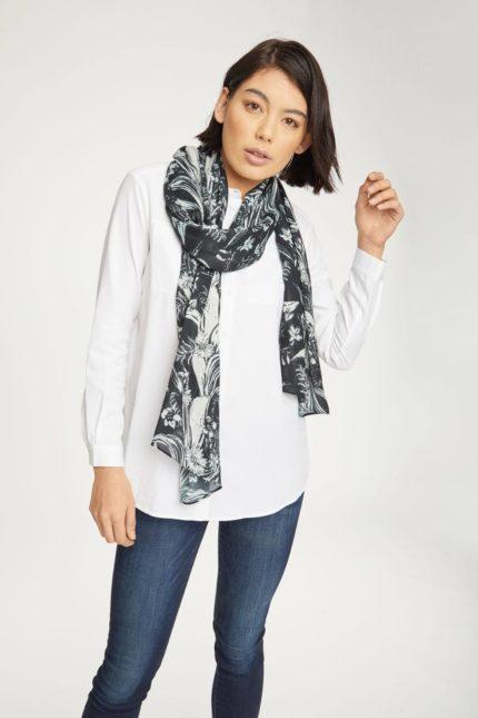 Thought bambusový šátek sylvi šedý