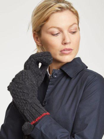 Thought vněné rukavice jordunn tmavě šedé