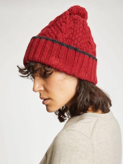 Thought vlněná čepice jordunn červená