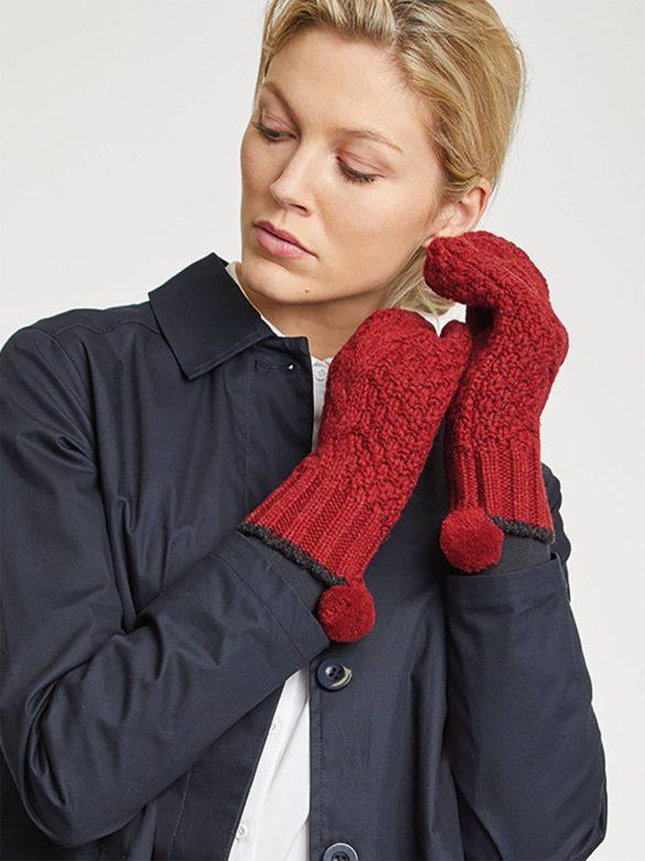 Thought vněné rukavice jordunn červené
