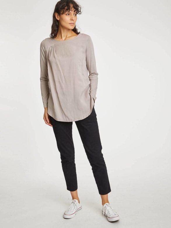 Thought kalhoty z bio bavlny sheng šedé