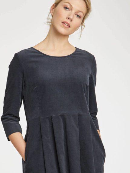 Thought manšestrové šaty lisket tmavě šedé