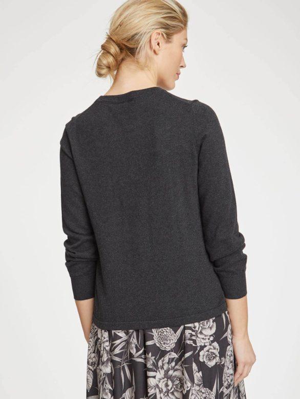 Thought svetr dela s vlnou tmavě šedý