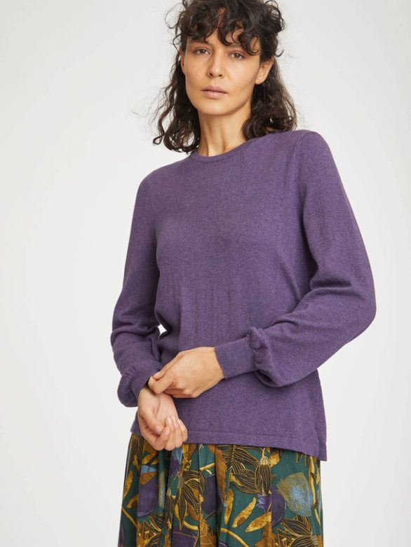Thought svetr dela s vlnou tmavě fialový