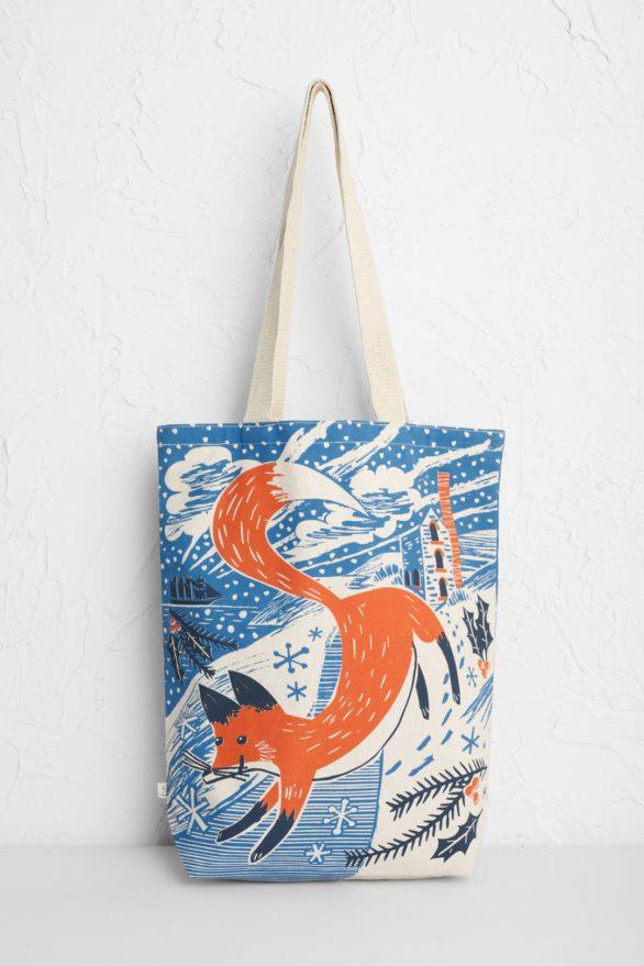 Seasalt nákupní taška fox in the snow