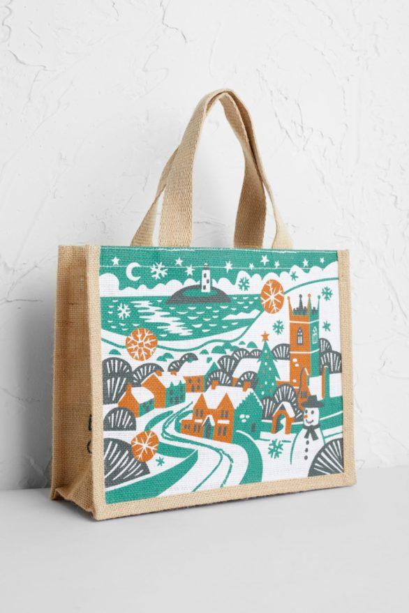 Seasalt jutová nákupní taška gwithian snowman