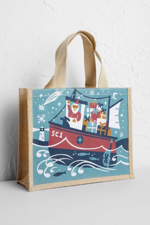Seasalt jutová nákupní taška santa fishing boat